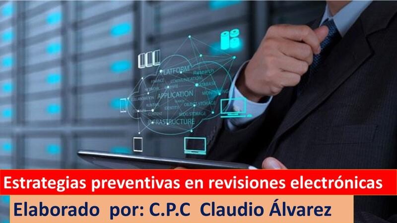 Estrategias Preventivas en revisiones electrónicas ( material y vídeo)
