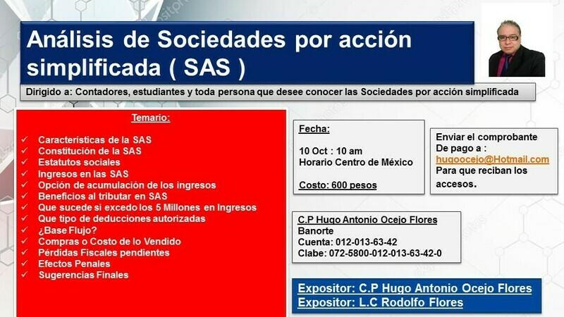 Curso de Sociedad por acción simplificada, S.A.S ( Material y video )