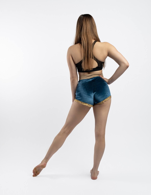 Velvet vintage circus shorts hot pants