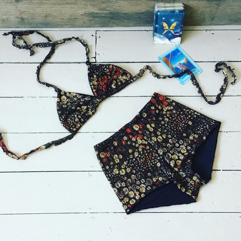 Floral Ditsy Print High Waist Bikini