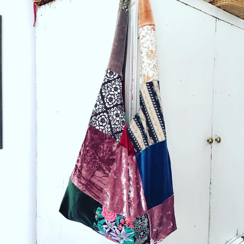 Velvet And Vintage Patchwork Shopper Bag