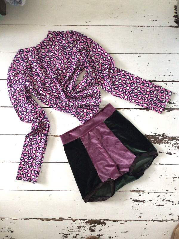Leopard Print Pink Organic Stretch Cotton Top
