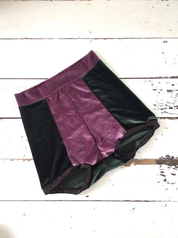 High Waist Velvet Hot Pant Shorts