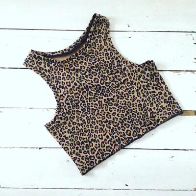 Cotton Leopard Print Crop Top