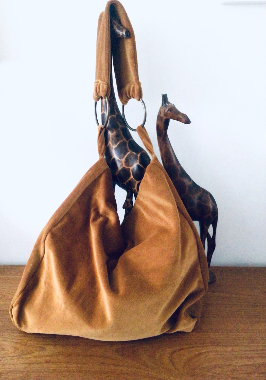 Organic Velour Slouchy Shoulder Bag