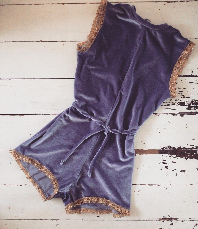 Lilac Velvet Bodysuit High wire Trapeze Costume