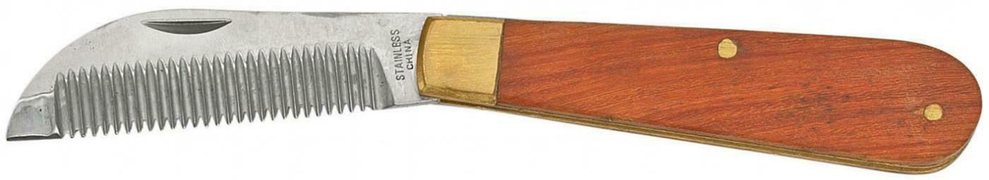 Verziehmesser, klappbar, mit Holzgriff
