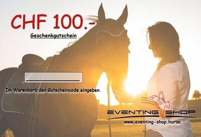 Geschenkgutschein CHF 100.-