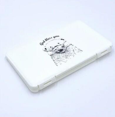 Hygienebox für Mund-Nasenschutz Masken weiss mit Bär