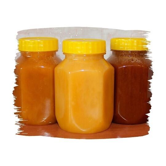 Мёд, баночка-сота, 350 мл.