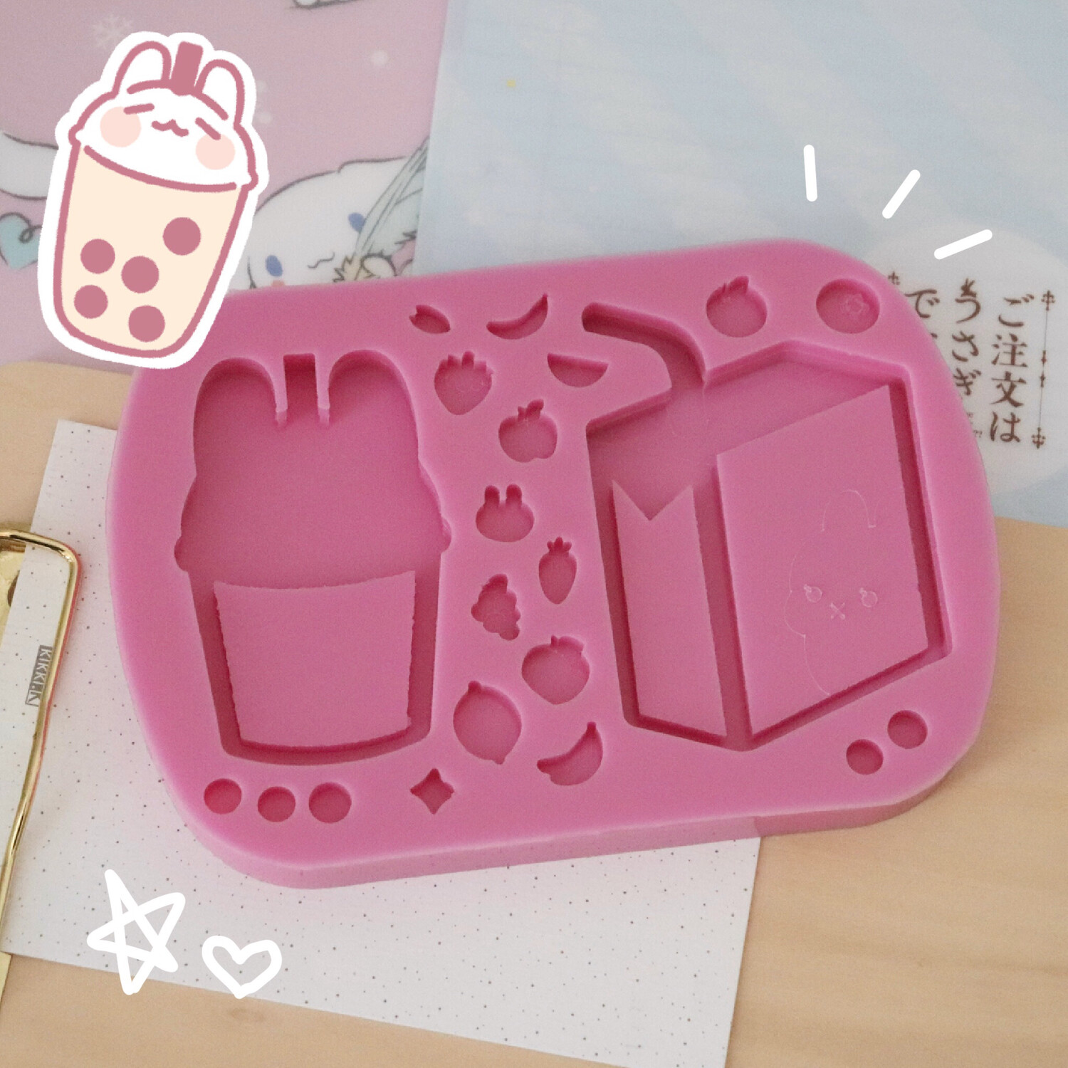 Juice Box and Boba Shaker Mold