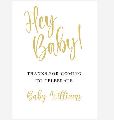 'Hey Baby' Baby Shower Sign