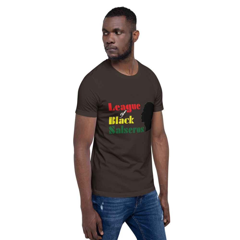League of Black Salseros (Man, Bald, Black) - Short-Sleeve Unisex T-Shirt