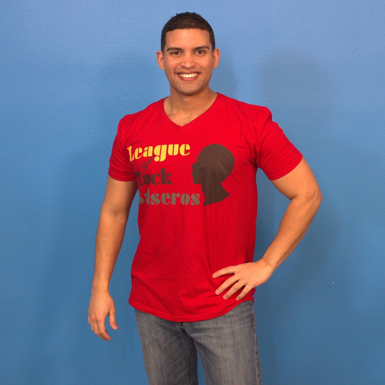 League of Black Salseros (Man, Bald, Red) - Short-Sleeve Unisex T-Shirt
