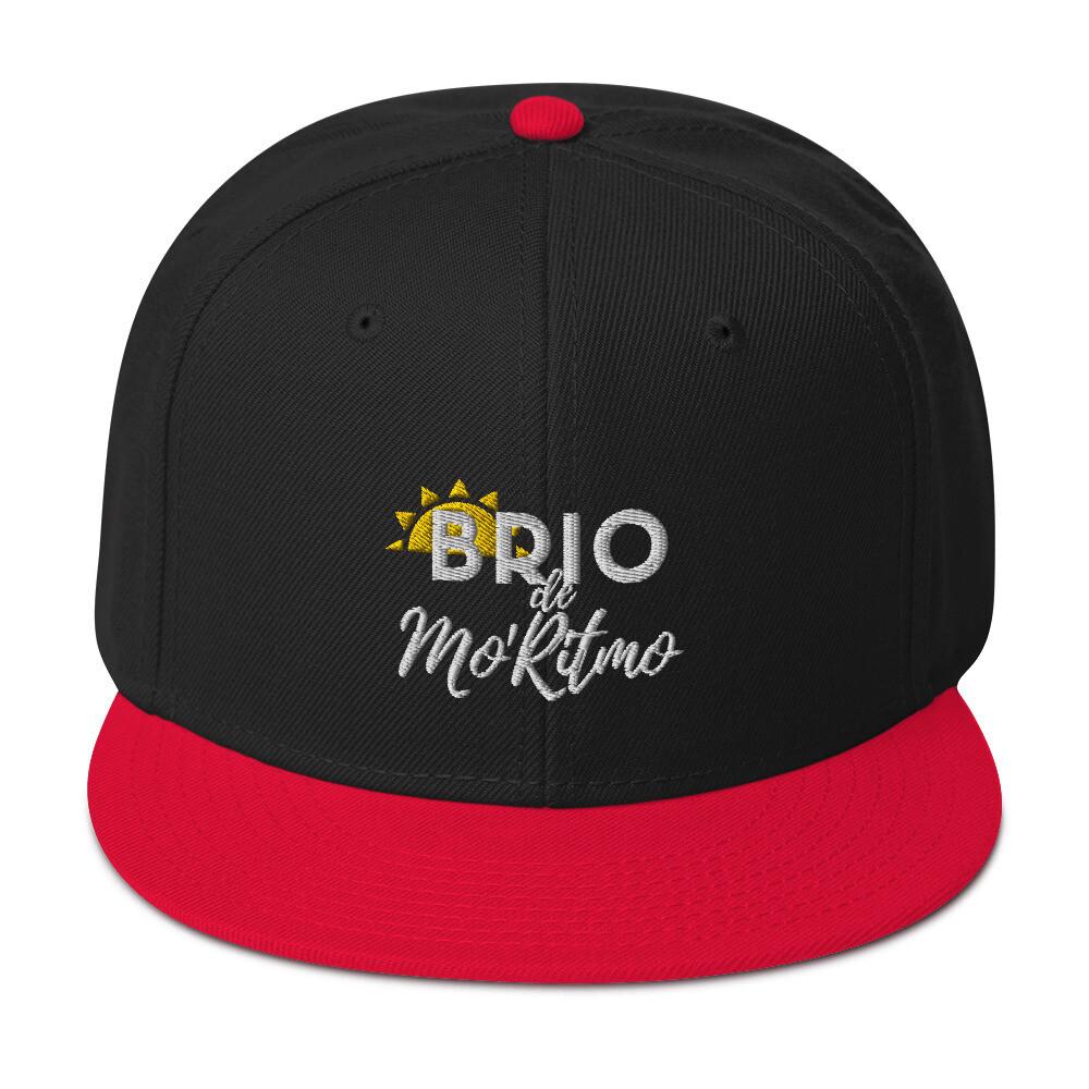 Brio de Mo'Ritmo (White Text) - Snapback Hat