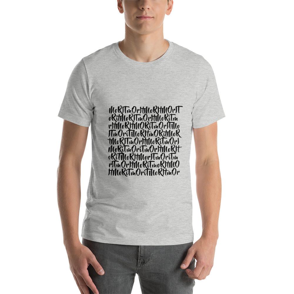MoRitmo Repeat (Black Text) - Short-Sleeve Unisex T-Shirt