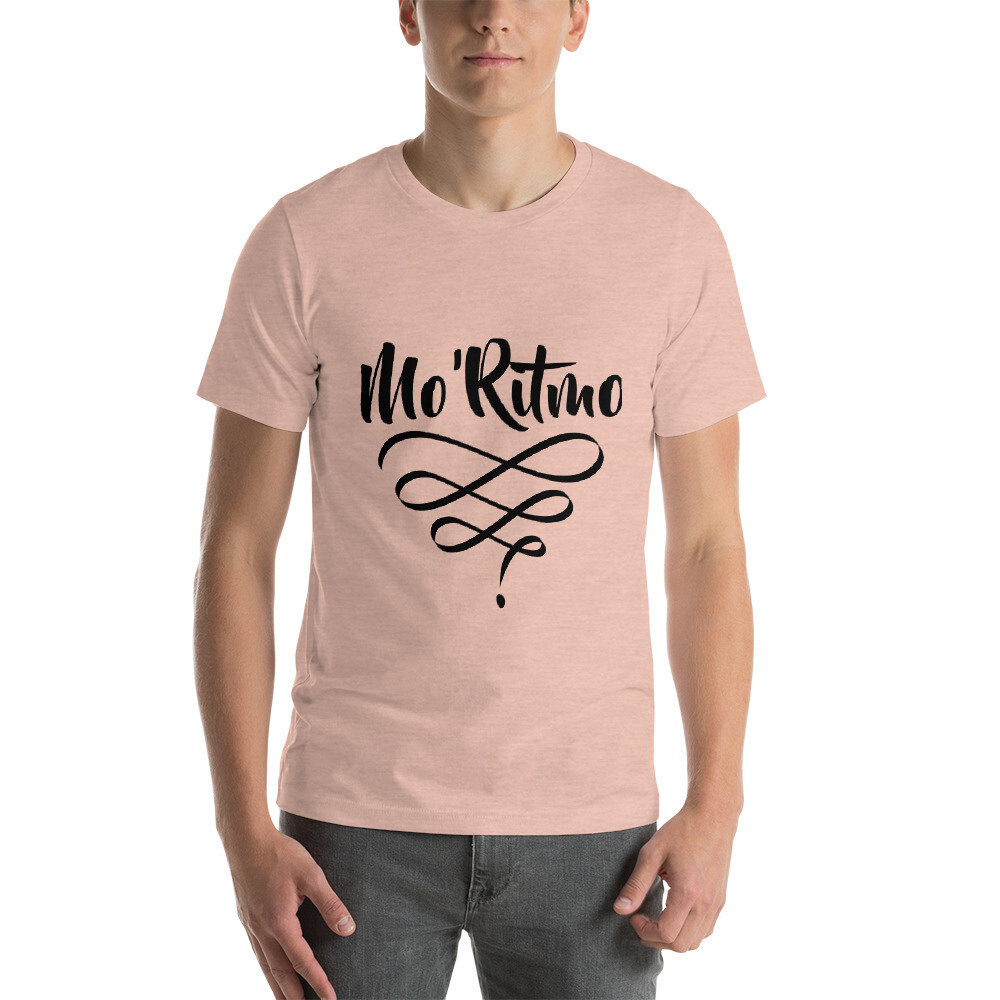 Mo'Ritmo Swirl (Black Text) - Short-Sleeve Unisex T-Shirt