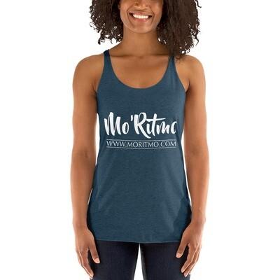 Mo'Ritmo Represent! (White Text) - Women's Racerback Tank