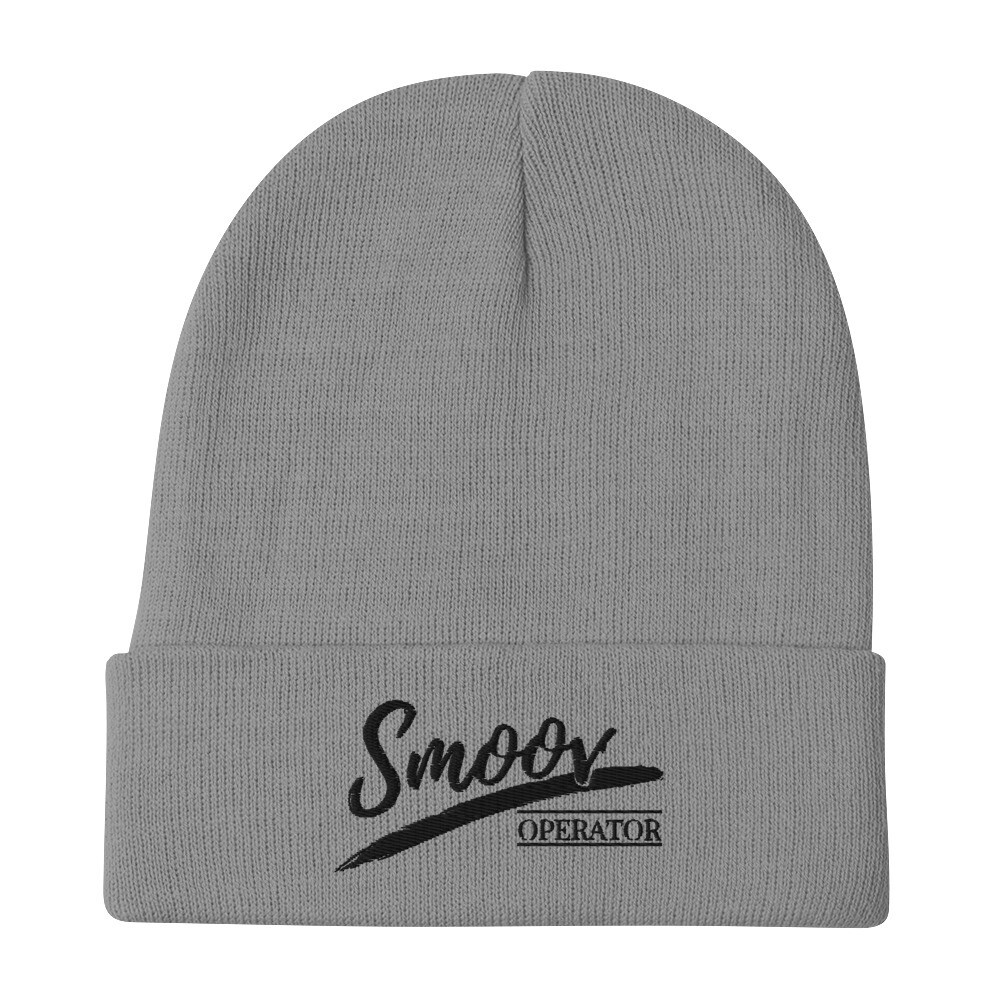 Smoov Operator (black text) - Embroidered Beanie