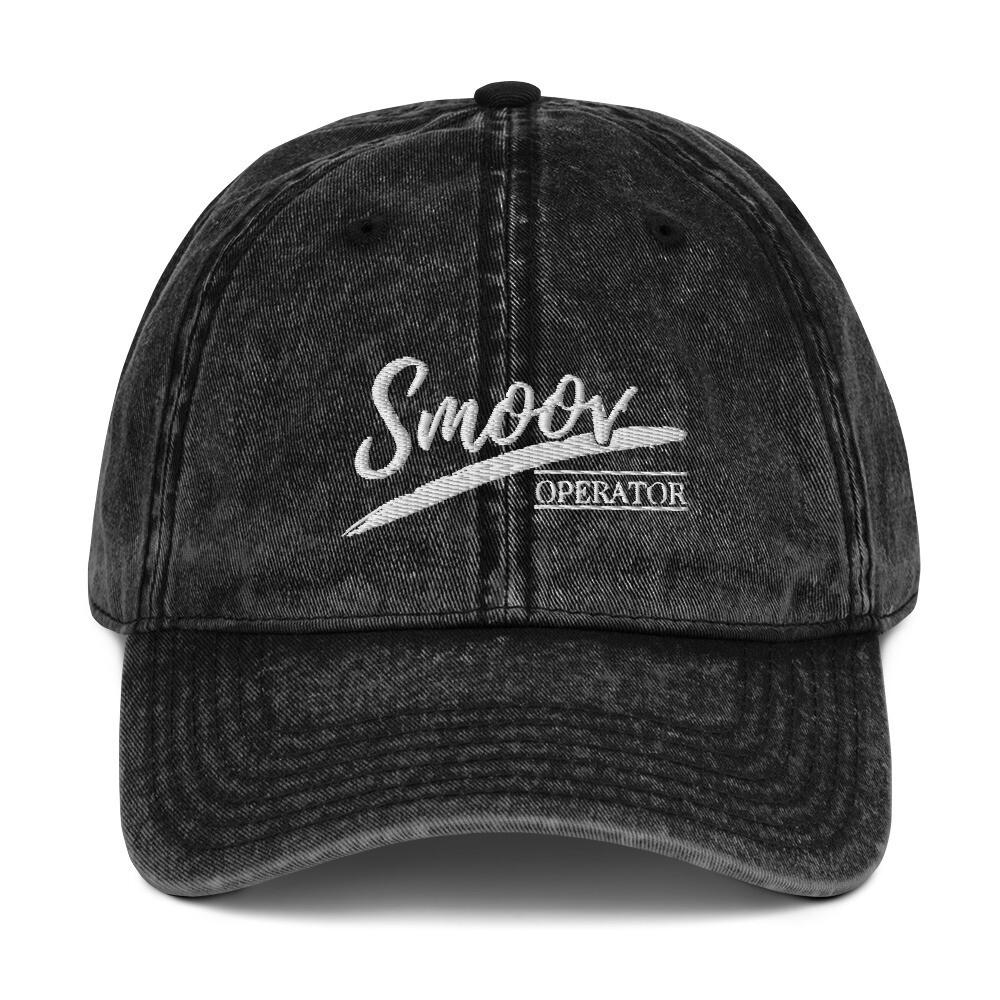 Smoov Operator (White Text) - Vintage Cotton Twill Cap