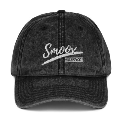 Smoov Operator (White Text) - Vintage Cotton Twill Cap