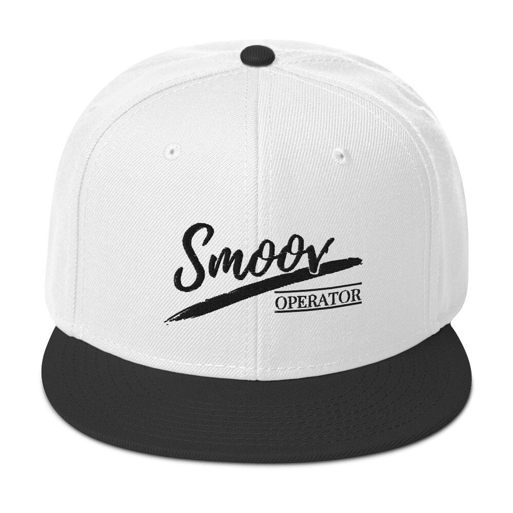 Smoov Operator (Black Text) - Snapback Hat