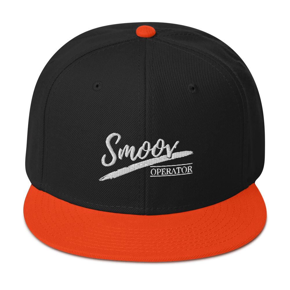 Smoov (White Text) - Snapback Hat