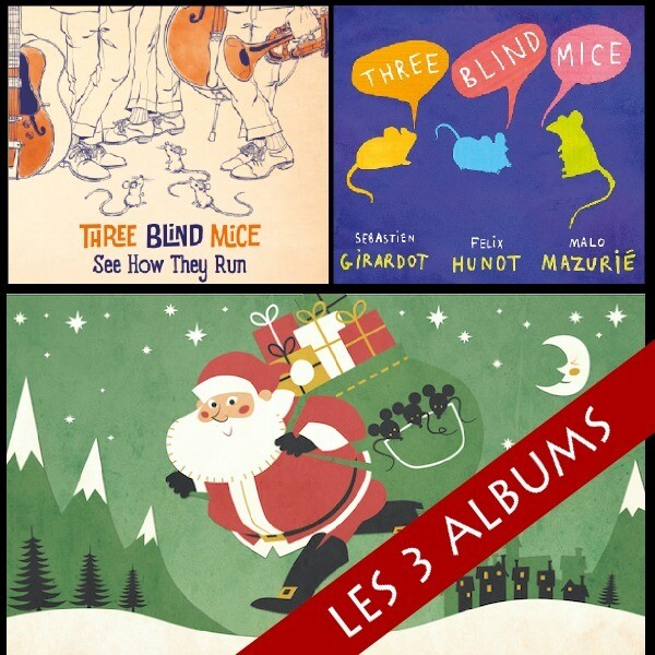 PROMO - Lot des 3 albums de Three Blind Mice