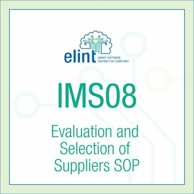 IMS08-Evaluation and Selection of Suppliers SOP