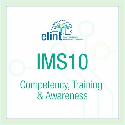 IMS10-Competency, Training & Awareness