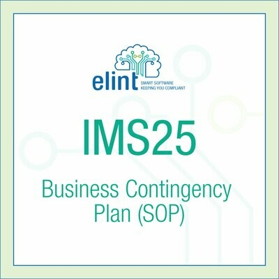IMS25 Business Contingency Plan (SOP)
