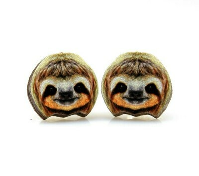 Green Tree Jewelry - Sloth Stud Earrings