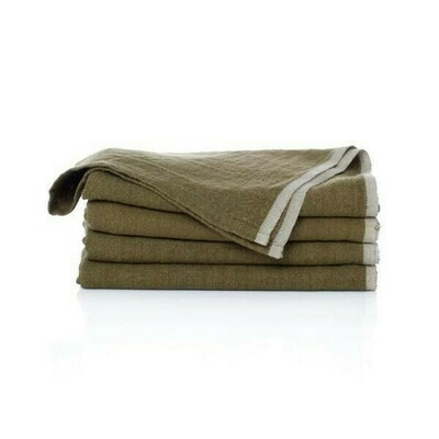 Caravan Home - Chunky Linen Forest Green Napkins
