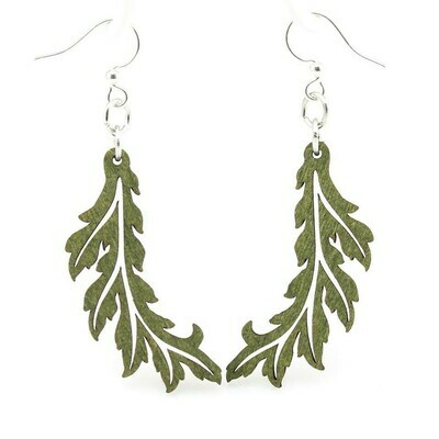 Green Tree Jewelry - Flowing Leaf Earrings