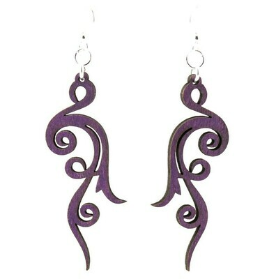 Green Tree Jewelry - Small Scroll Earrings