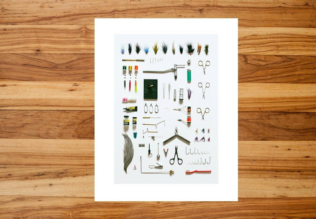"""Field Guide Designs - 11""""x14"""" Fly Tyer Art Print"""