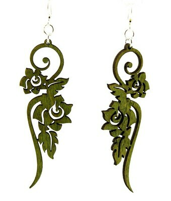Green Tree Jewelry - Long Flower Earrings