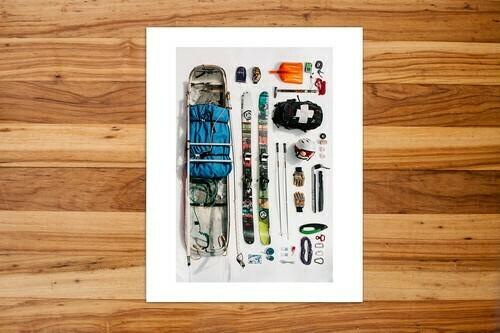 "Field Guide Designs - 11""x14"" Ski Patroller Art Print"