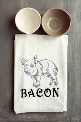 Farmhouse Pig/Bacon Tea Towel