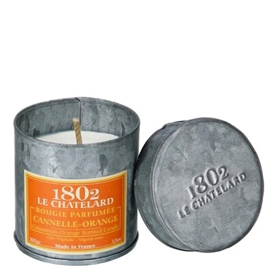 1802 Lechatelard Cinnamon Orange Candle In Tin