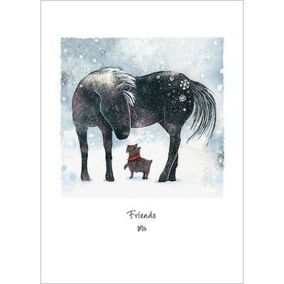 Dog and Pony Greeting Card