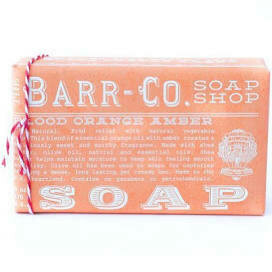 Blood orange and amber Barr Co Soap