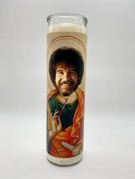 Bob Ross Candle