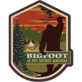 Bigfoot is My Spirit Animal  Sticker