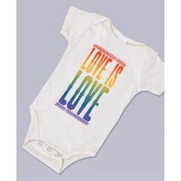 Love is Love Organic Baby Bodysuit