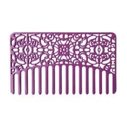 Go-Comb - Orchid Lace Go-Comb   Metal Wallet-Sized Comb
