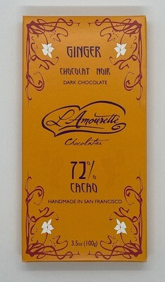 72% Dark Chocolate with Ginger (Natural)