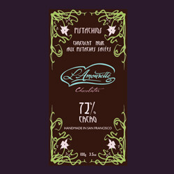72% Dark Chocolate with Salted Pistachios