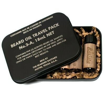 The Bearded Bastard - Beard Oil Travel Pack