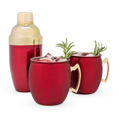Rustic Holiday: Red Mule Mug & Cocktail Shaker Gift
